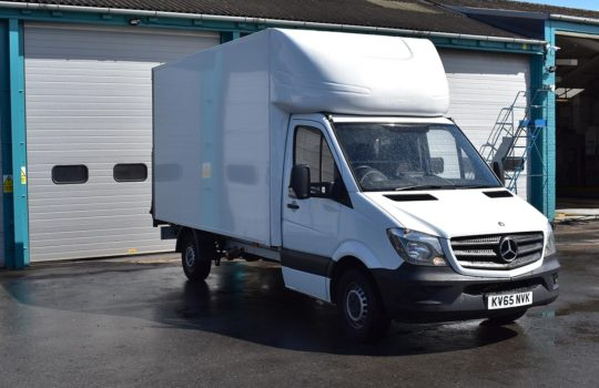 USED MERCEDES BENZ SPRINTER 313 LWB LUTON BOX T/LIFT FROM ALLTRUCK2