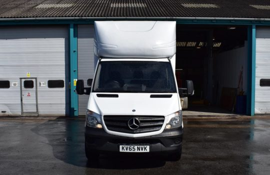 FRONT OF MERCEDES BENZ SPRINTER 313 LWB LUTON BOX T/LIFT
